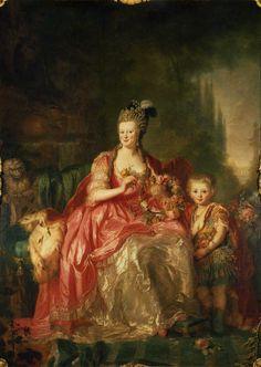 Friederike Luise of Hessen-Darmstadt (1751-1805) and her son Friedrich Wilhelm III of Prussia (1770-1840)