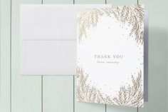 Botanical Filigree Foil-Pressed Baby Shower Thank You Cards by Phrosne Ras at minted.com