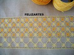 FELIZARTES: Caminho de mesa bordado