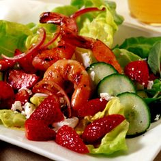 Schnucks - Strawberry Shrimp and Feta Salad