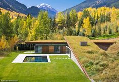 In third place is a 2,850 square foot home in Colorado that overlook the Rocky Mountains. A solar thermal system operates the pool, spa and outdoor area which has a fireplace and a retractable movie screen.   The smart house with its high array of sensors is over thirty percent more energy efficient than comparable homes nearby.
