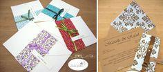 Convites de casamento com tecido