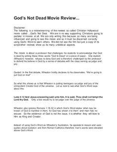 God's Not Dead-Movie Review www.dontperish.com