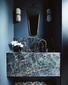10 of the Most Exciting Bathroom Design Trends for 2019 Emily Henderson bathroom trends 2019 ~ETS - Marble Bathroom Dreams Modern Interior Design, Bathroom Interior Design, Interior Decorating, Decorating Ideas, Interior Architecture, Decorating Websites, Marble Interior, Stone Interior, Restroom Design