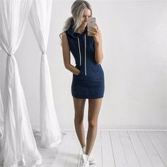 Perfect Hoodie Dress - LOVE! -- Spring Summer Fall Winter Fashion. www.psiloveyoumoreboutique.com