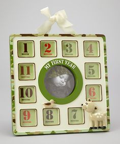 Take a look at this Green Camouflage One Year Picture Frame by Baby Essentials on #zulily today!