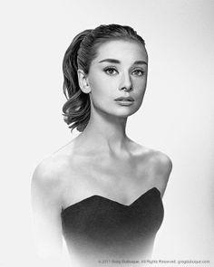 Audrey Hepburn: eideth head sketch