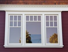 Single casement, with true-divided lites and left- and right-hand outswing windows.