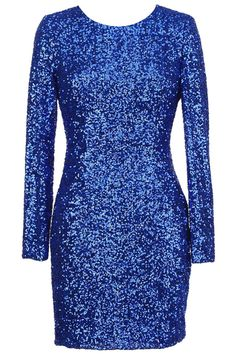 #Romwe ROMWE   Back Hollow Blue Sequin Dress, The Latest Street Fashion