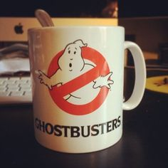 The logo on this ceramic coffee mug from the 1980 film Ghostbuster will help show your love for classic cinema. Please allow 7-10 days for shipping.