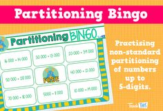 Non Standard Partitioning Bingo Game