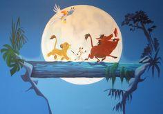 Simba Et Nala, Lion King Simba, Disney Lion King, Disney Baby Rooms, Baby Disney, Lion King Room, Disney Mural, Lion King Poster, Bedroom Decor