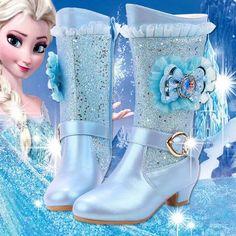2019 new girls high-heeled boots princess lace Aisha Frozen students warm high boots Princess Toys, Princess Dress Up, Disney Princess Dresses, Little Girl Toys, Baby Girl Toys, Toys For Girls, High Heel Boots, Heeled Boots, High Heels
