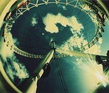Inspiring image ferris wheel, fisheye, lomo, london, london eye #1936 - Resolution 500x334px - Find the image to your taste