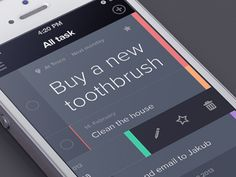 Dribbble - Task app by Jakub Antalík http://dribbble.com/shots/947749-Task-app