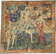 A rare and important French Renaissance tapestry of Le Camp du Drap d'Or, the meeting of Kings Henry VIII and François Ier<br>circa probably Tournai Tudor History, British History, Art History, Asian History, History Facts, Medieval Tapestry, Medieval Art, Medieval Books, Medieval Times
