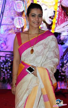 Kajol Picture Gallery image # 237771 at Bollywood Stars Celebrate Durga Pooja containing well categorized pictures,photos,pics and images. Indian Actress Photos, Beautiful Indian Actress, Indian Actresses, Bollywood Stars, Indian Bollywood, Bollywood Fashion, Hindi Actress, Bollywood Actress, Kajol Saree