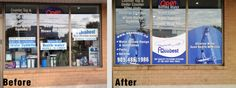 Amazing before and after shot of this store front signage Look what we could do for you!