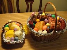 Slavic Traditions... Christians of Slavic descent, including Carpatho-Russian, Polish, Ukranian and Slovak, follow several similar traditions in terms of creating Easter baskets. The Easter baskets follow several traditions in the foods placed in them.   Bread - A sweet yeast bread, symbolizes Christ who is referred to as the bread of life...