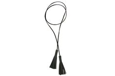 Double Leather Tassel Necklace
