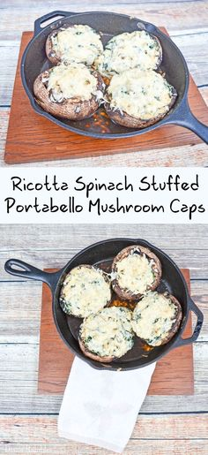 Spinach Ricotta Stuffed Mushroom Caps Recipe