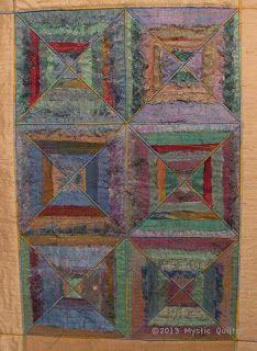quilt made from Darn Good Yarn's sari ribbon!  So pretty!