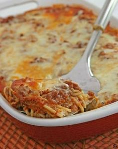 Baked Spaghetti with Mushrooms #best recipe to try