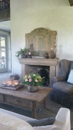 Hoeve Hofackers ♡ ~Rustic Living ~GJ * www. decor With TV Above French Country House, Modern Country, Country Decor, Vibeke Design, Interior And Exterior, Interior Design, Belgian Style, Home And Deco, Rustic Interiors