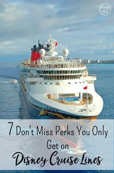 Disney Cruise Lines have gone out of their way to make the cruise experience magical and memorable. Here are 7 Disney Cruise perks you won't get elsewhere! via /wdcornelison/