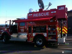Large International chasis setup as a communications unit for emergency response.