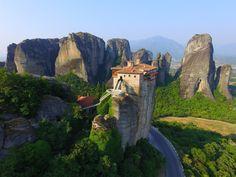 Meteora , Greece -My Dji phantom 3 professional Drones, Visit Turkey, Us Sailing, Dji Phantom 3, Greece Travel, Mount Rushmore, Sunrise, Explore, Mountains
