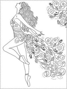 Nicole's Free Coloring Pages: dance Make your world more colorful with free printable coloring pages from italks. Our free coloring pages for adults and kids. Ballerina Coloring Pages, Coloring Book Pages, Printable Coloring Pages, Coloring Sheets, Kids Coloring, Dance Coloring Pages, Fairy Coloring, Mandala Coloring, Embroidery Patterns
