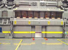 Lego Spacecraft Maintenance Hangar