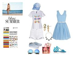 """""""summer is in the air"""" by treehugger12345 on Polyvore featuring Blue Bay, Casetify, Billabong, Betsey Johnson, Yumi and Aquazzura"""