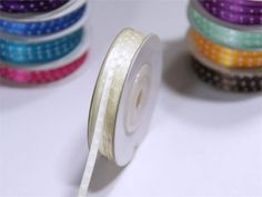 Spruce your gifts and favors up with efavormart's exciting range of Polka Dots Satin Ribbons. With accents like Polka Dots, Chevron, and Checkered, Our Decorative Ribbons are perfect for Decorations and Crafting. Organza Ribbon, Satin Fabric, Chair Sashes, Plastic Tablecloth, Wedding Ribbons, Satin Material, Wedding Party Dresses, Craft Gifts, Cake Boxes
