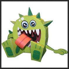This monster paper toy is Rex, designed by Pieter Dirkzwager. You can download this papercraft template here: Monster Rex Free Paper Toy Download