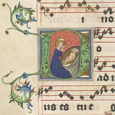 e-codices:  Christmas scene in a 15th century manuscript (detail) on Flickr.