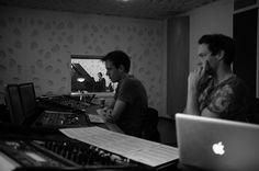 Opnames van onze muziek voor de film Afstand.