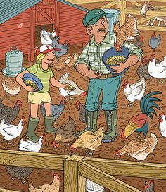Feeding the Chickens Highlights Hidden Pictures, Find The Hidden Objects, Highlights Magazine, Air Balloon Festival, Louisiana Swamp, Sequencing Cards, Picture Composition, Picture Puzzles, Eagle Eye