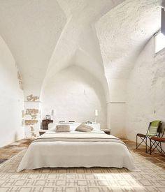 vivir en un antiguo molino italiano: dormitorio