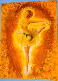 Pintura a óleo- bailarina