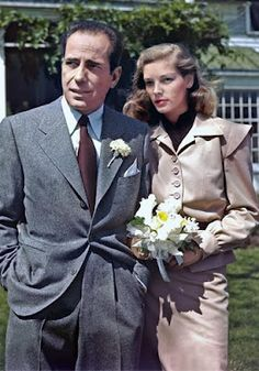 I was born in and lived in Mansfield Ohio. But the most famous people in our small Ohio town.....(how did they find it? and does Lauren even look happy??)..Wedding at Malabar Farm, Mansfield Ohio, May 21, 1945. Mr. and Mrs. Humphrey Bogart. (Lauren Bacall)