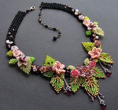 Beadwork by Lucie Avramova. Pagan Goddess Of Spring - Vesna Necklace