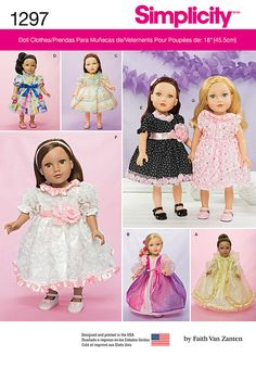 Simplicity Pattern 1297OS One Size -Undefined Doll Cloth