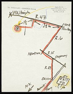 Creator: Alexander Calder With this invitation to Ben Shahn, Alexander Calder enclosed a map to his home that is reminiscent of his mobiles.