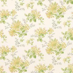 Laura Ashley honeysuckle trail camomile yellow wallpaper