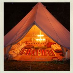 We cannot go camping without a bell tent. It's officially a necessity.