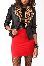 leather with fur detail...