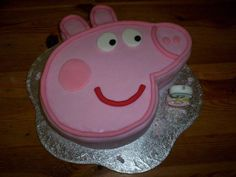 Peppa pig cake. Thinking about making this for Marilyn's birthday.