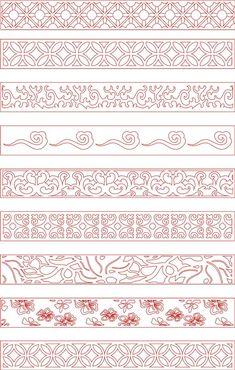 Greek Pattern, Leather Tooling Patterns, Bookmark Craft, Japan Tattoo, Thai Art, Border Pattern, Line Patterns, Bike Design, Mandala Art